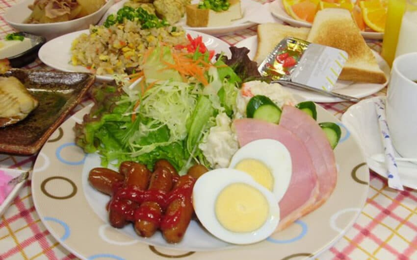 Affordable hotel Narita, Japan breakfast